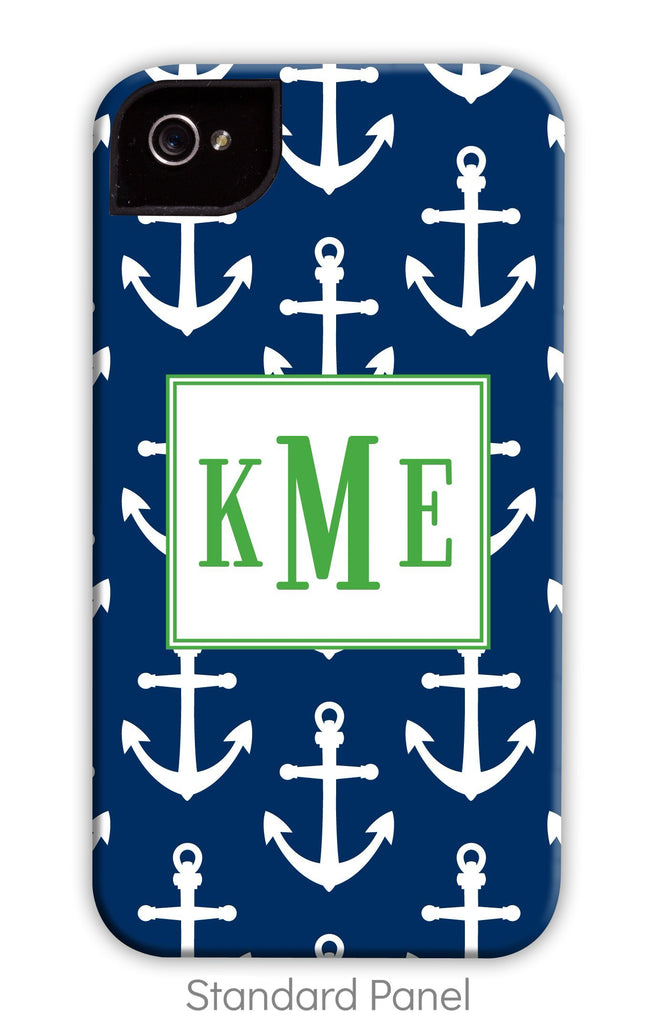 Bold Blue Anchor Repeat Phone Case