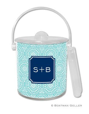 Bursts Monogrammed Lucite Ice Bucket