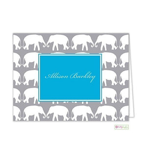 Elephant Modern Folded Notes