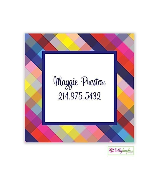 Gingham Modern Enclosure Card