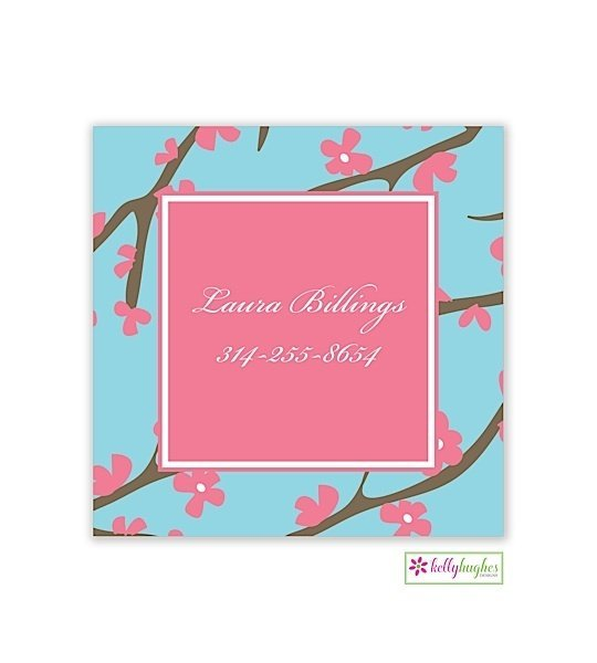 Pink Cherry Blossom Modern Enclosure Card