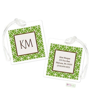 Personalized Clover Modern Bag Tags