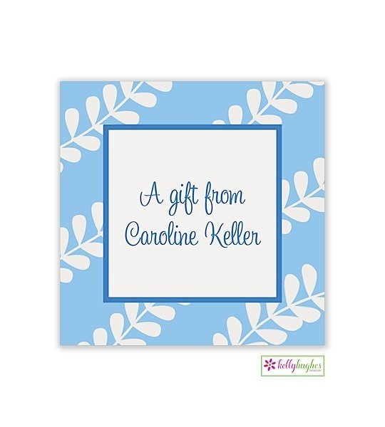 Blue Vines Modern Gift Sticker