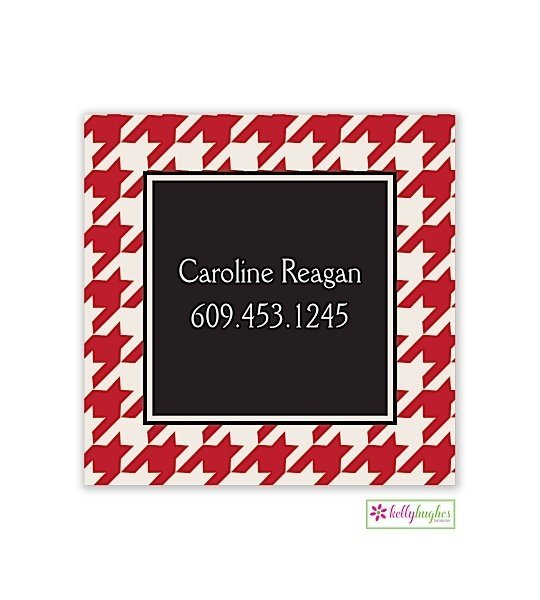 Red Houndstooth Modern Gift Sticker