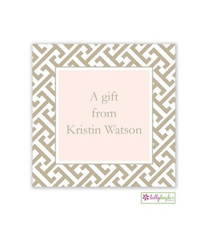 Greek Key Modern Gift Sticker