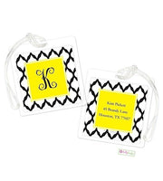 Personalized Lattice Modern Bag Tags