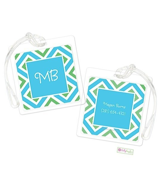 Personalized Geo Modern Bag Tags