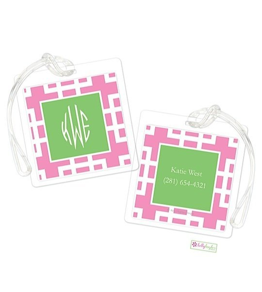 Personalized Squared Modern Bag Tags
