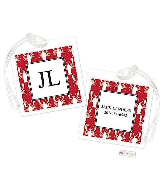 Personalized Lobster Modern Bag Tags