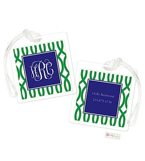 Personalized Garden Gate Modern Bag Tags