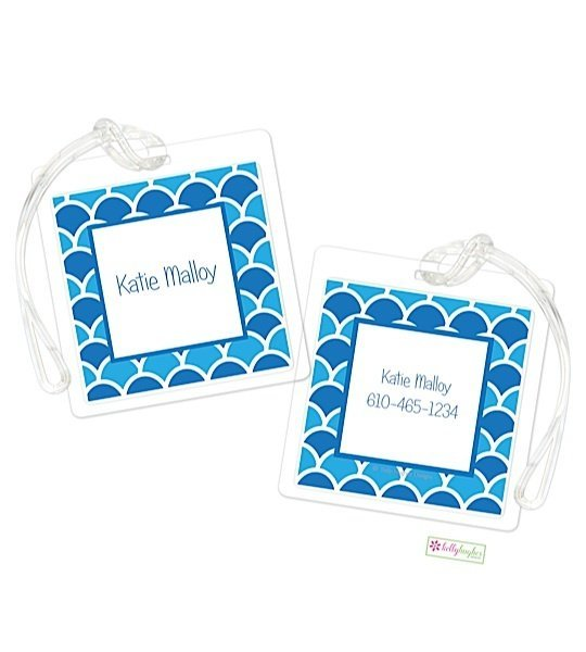 Personalized Shells Modern Bag Tags