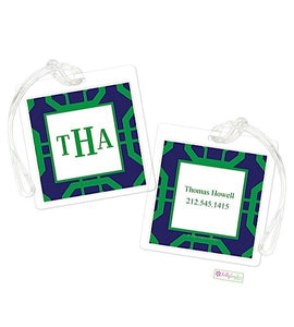 Personalized Abbott Modern Bag Tags