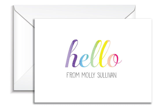 Rainbow Hello Classic Folded Notes