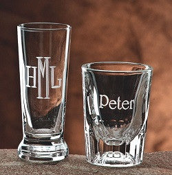 Monogrammed 2oz. Fluted Shot Glass