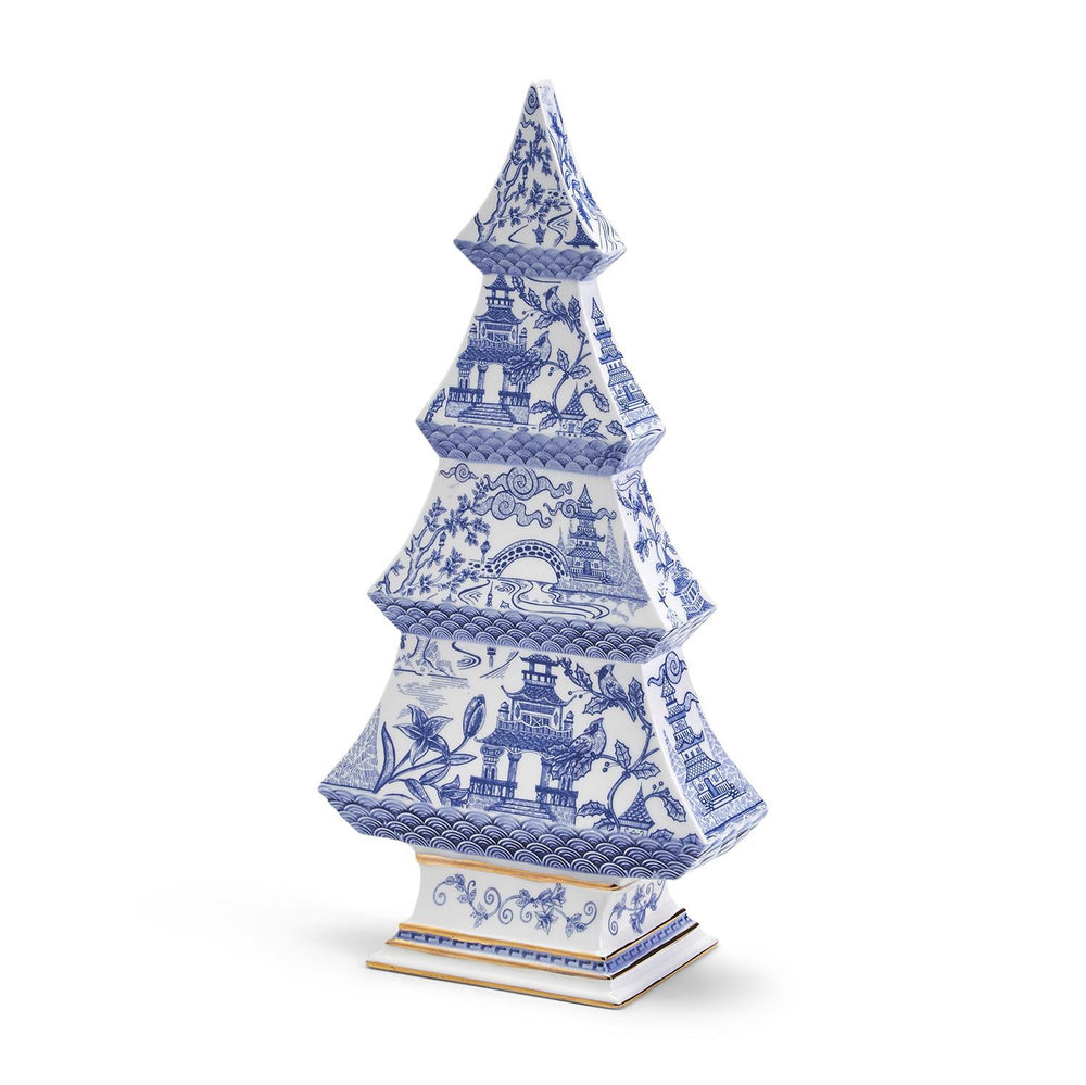 Blue & White Chinoiserie Christmas Tree