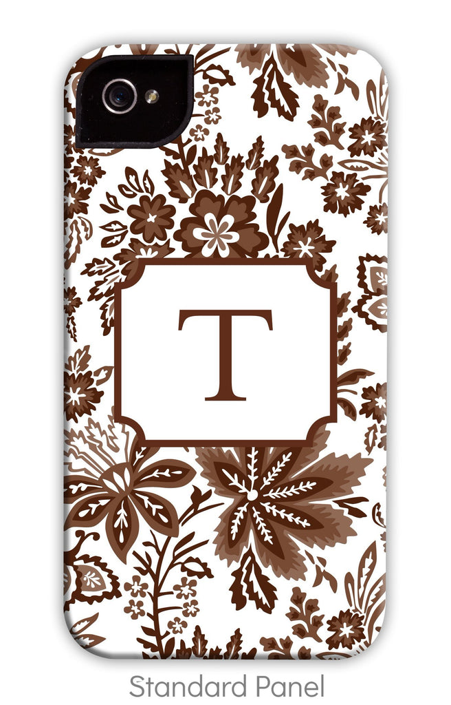 Classic Floral Chocolate Phone Case