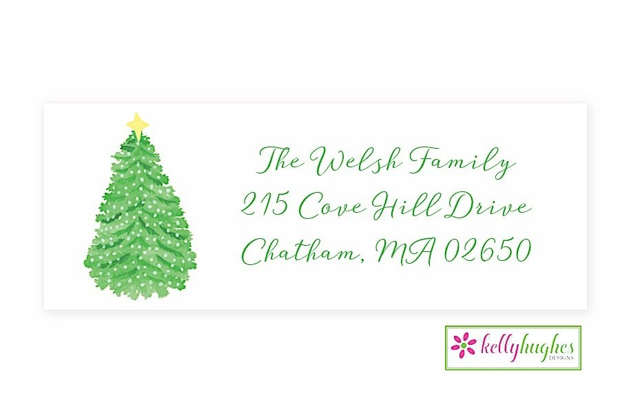 merry and bright christmas holiday address labels the monogram