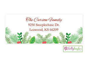 Christmas Greens  - Christmas Holiday - Address Labels
