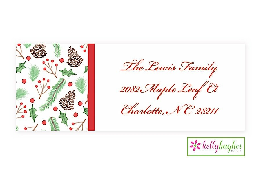 winter christmas holiday address labels the monogram merchant