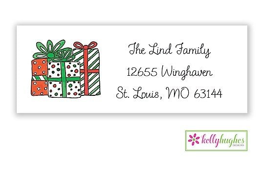 All I Want For Christmas  - Christmas Holiday - Address Labels