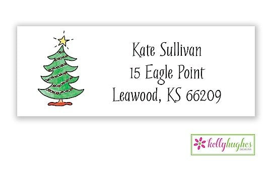 Trim The Whole Tree  - Christmas Holiday - Address Labels