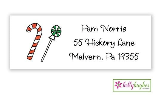 Candyland - Christmas Holiday - Address Labels