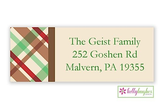 Cabin - Christmas Holiday - Address Labels