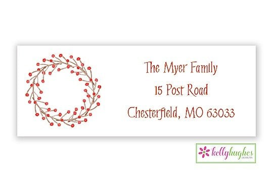 Winterberry - Christmas Holiday - Address Labels