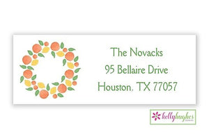 Winter Citrus Holiday Address Labels