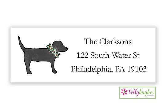 Labrador Love - Christmas Holiday - Address Labels