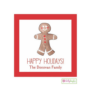 Gingerbread Man Christmas Holiday Gift Sticker