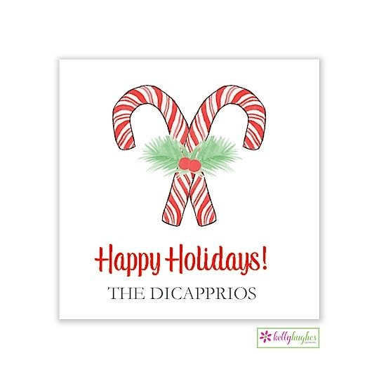 Candy Cane Christmas Holiday Gift Sticker