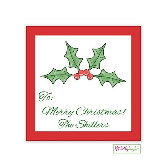 Holly Berry Christmas Holiday Gift Sticker
