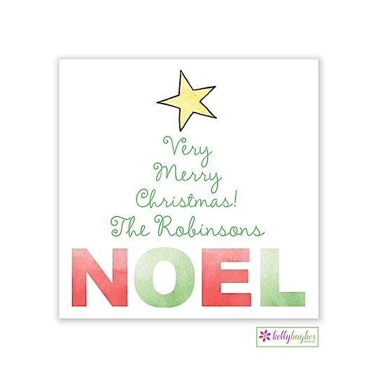 NOEL Christmas Holiday Gift Sticker