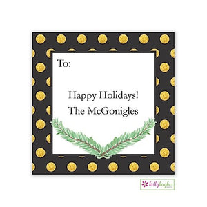 Art Deco Christmas Holiday Gift Sticker