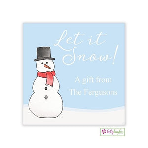 Let It Snow Christmas Holiday Gift Sticker