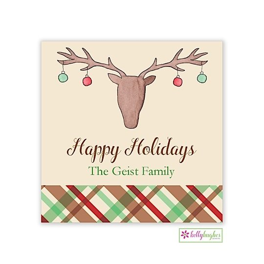 Christmas Cabin Holiday Gift Sticker
