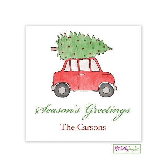 Holiday Road Christmas Holiday Gift Sticker