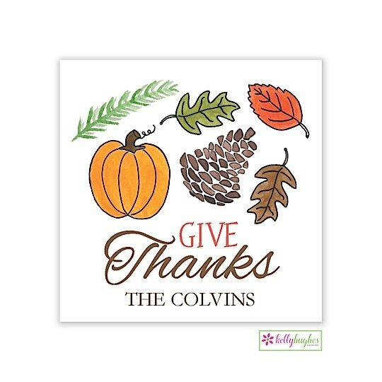 The Woodlands Thanksgiving Holiday Gift Sticker