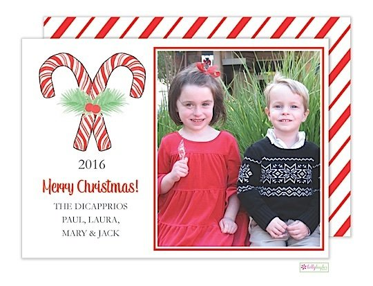 Candy Cane Stripes Holiday Photo Card