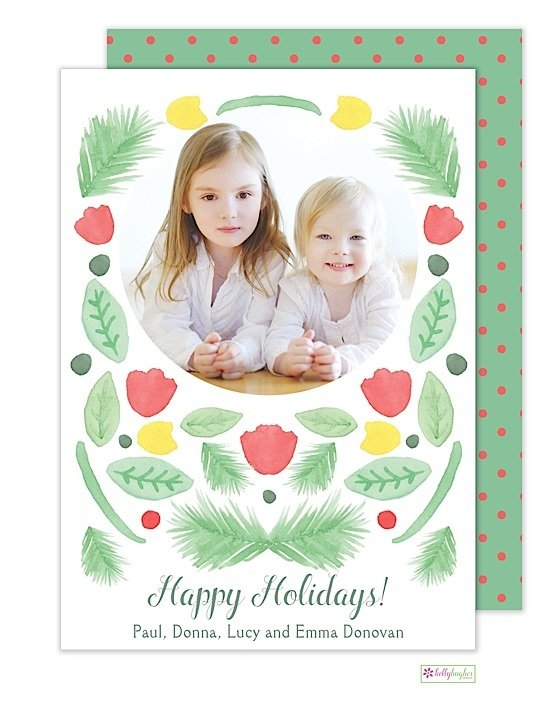 Winter Garden Holiday Photo Card