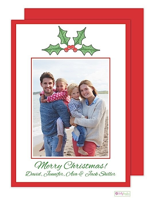 Holly Berry Holiday Photo Card