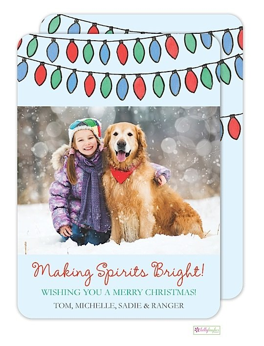 Bright Lights Holiday Photo Card