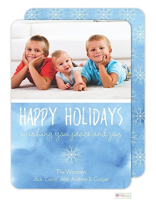 Snowflakes Holiday Photo Card