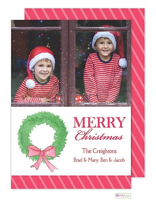 Fir Wreath Holiday Photo Card