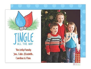 Jingle Blues Holiday Photo Card