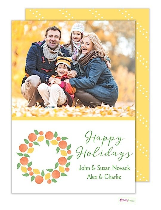 Winter Citrus Holiday Photo Card