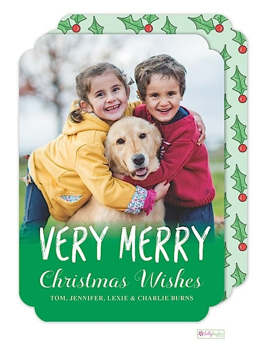Merry Holly Holiday Photo Card