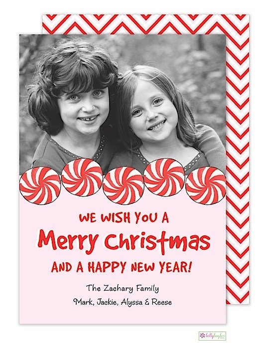 Peppermint Swirl Holiday Photo Card