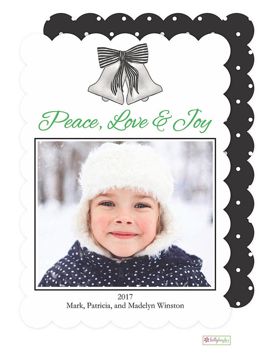 Silver Bells Holiday Photo Card